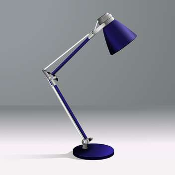 vector illustration of desk lamp on grey background - vector gratuit #128001