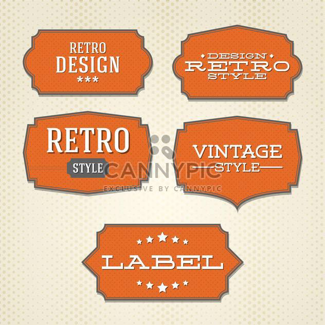 Vector collection of vintage and retro labels - Free vector #128041