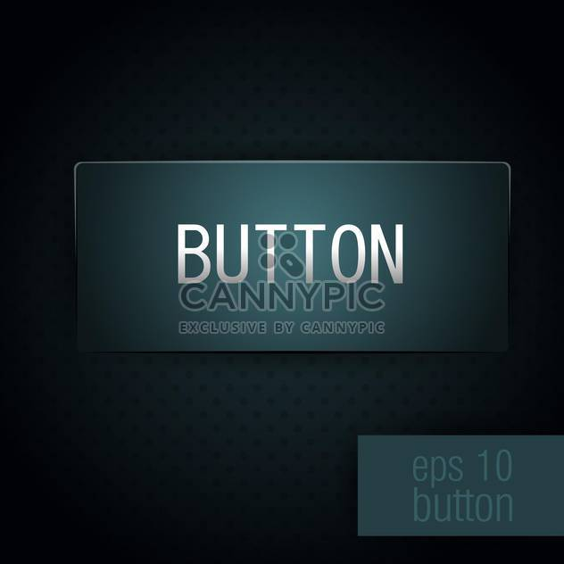 vector illustration of dark blue button - Free vector #128091