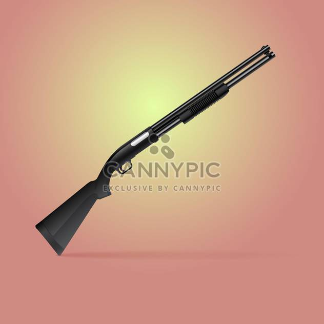 Vector illustration of shotgun for hunting - Free vector #128131