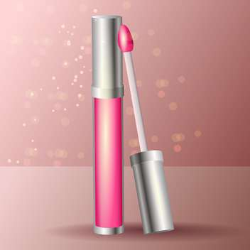 Vector pink lipstick icon - Free vector #128141