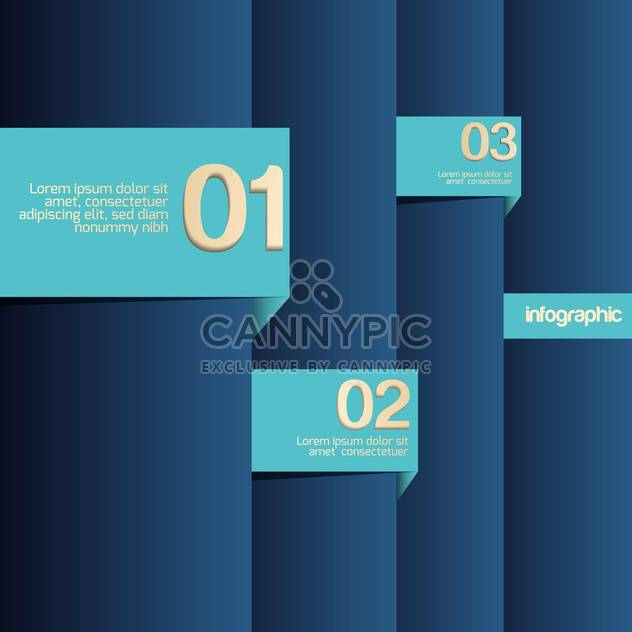 Blue background with numbers, vector illustration - Free vector #128171