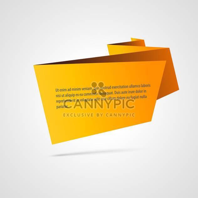 Papier-Origami-Vektor-Banner, isoliert auf weißem Hintergrund - Free vector #128191