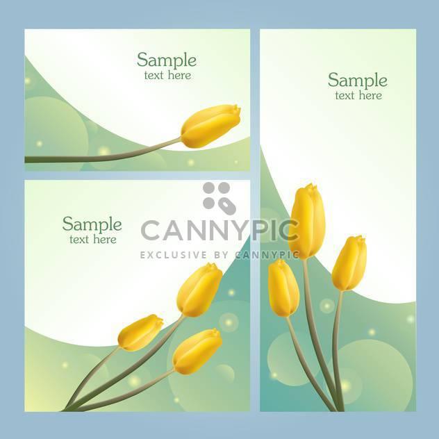 Set mit Frühlingsblumen Banner mit Platz für text - Kostenloses vector #128321