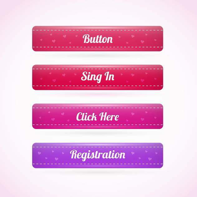 Web Holiday Elements Buttons - vector #128401 gratis