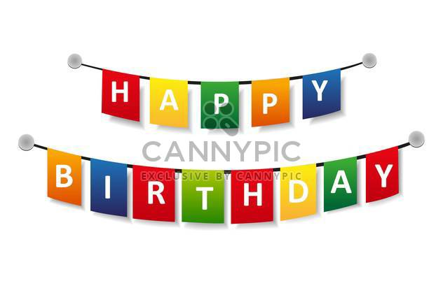 Happy birthday greeting vector background. - Free vector #128421