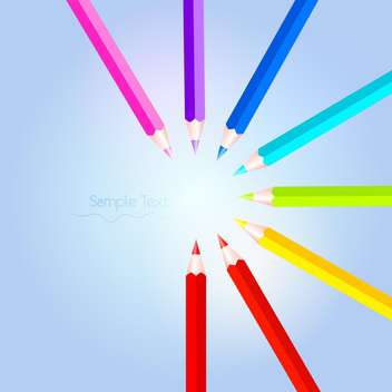 Vector illustration of colorful pencil set - vector gratuit #128451