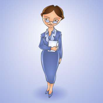 Vector illustration of cartoon business woman - бесплатный vector #128471