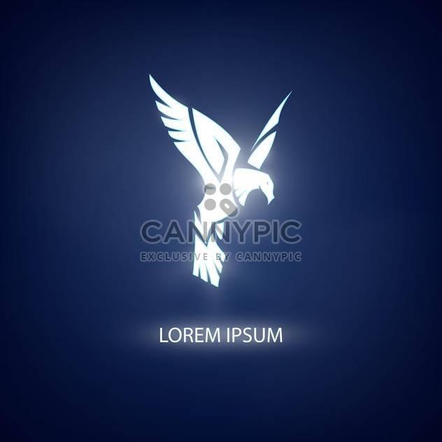 Adler-Symbol auf blauem Hintergrund für Maskottchen oder Emblem design - Kostenloses vector #128531