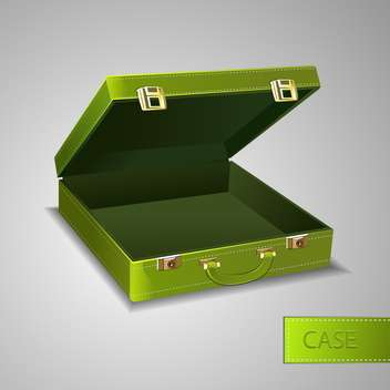 Vector illustration of business green briefcase - Free vector #128541