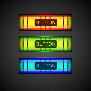 Vector set of colorful buttons. - Free vector #128561