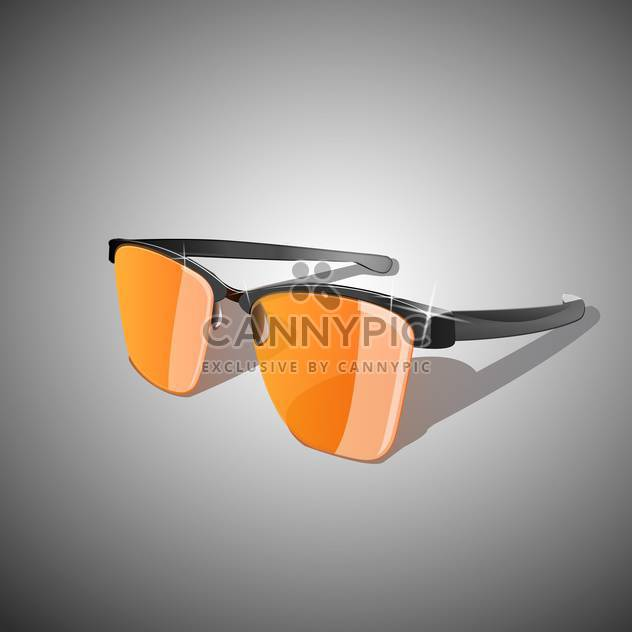 Vector illustration of yellow sun glasses - Free vector #128601