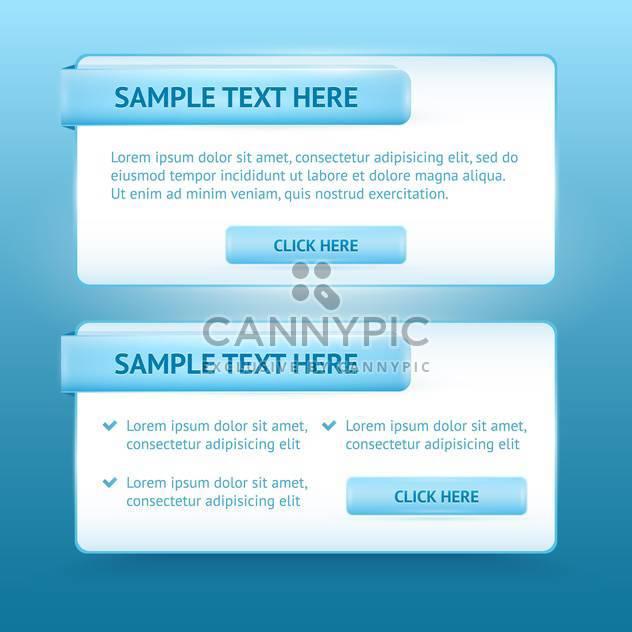 Blue website design vector templates - Free vector #128611