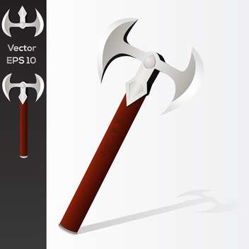 Vector illustration of battle axe - бесплатный vector #128621