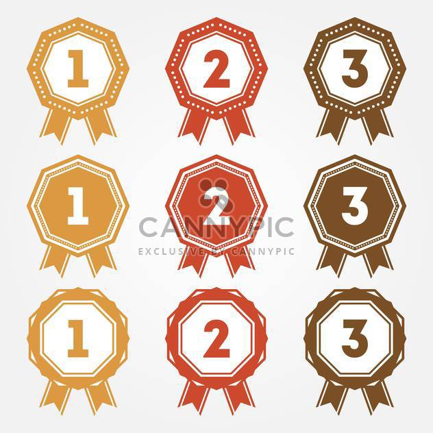 Set of vector retro ranking badges - Free vector #128641