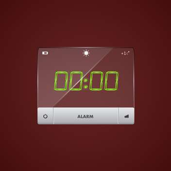 Vector illustration of digital alarm clock - бесплатный vector #128681