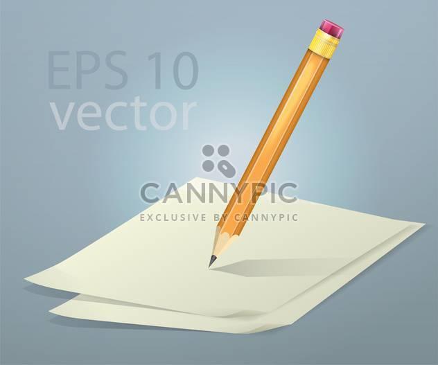 Vektor-Illustration von Papier und Bleistift - Free vector #128711