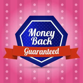 Vector label of guaranteed money back - vector gratuit #128801