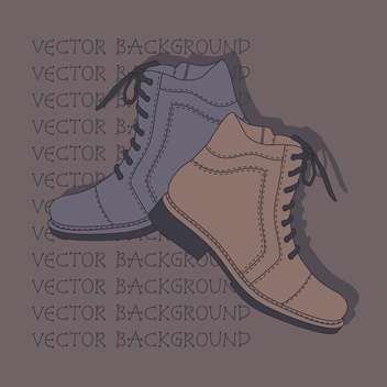 Vector background with grey and brown shoes. - vector gratuit #128861