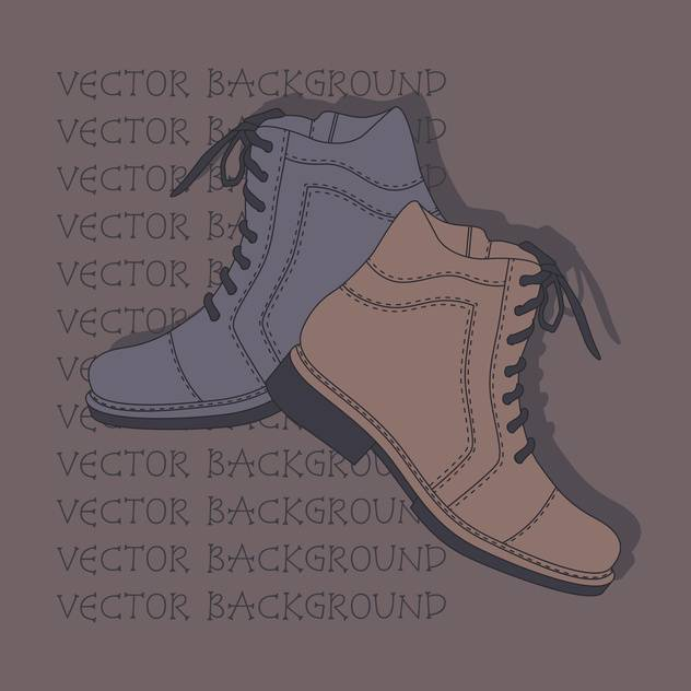 Vector background with grey and brown shoes. - Kostenloses vector #128861