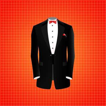 vector illustration of black suit on red background - бесплатный vector #128871
