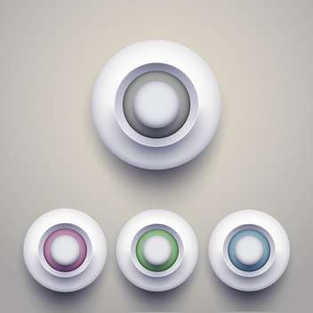 Vector set of colorful 3d buttons. - Free vector #128881