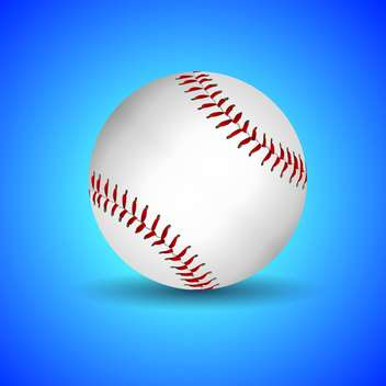 Vector illustration of baseball ball over blue background - vector gratuit(e) #128901