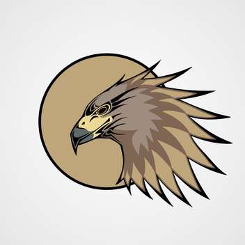 head of hawk bird illustration - бесплатный vector #129021