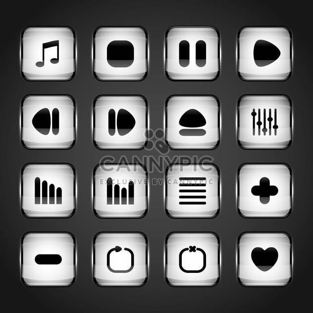 media web vector buttons set - Free vector #129071