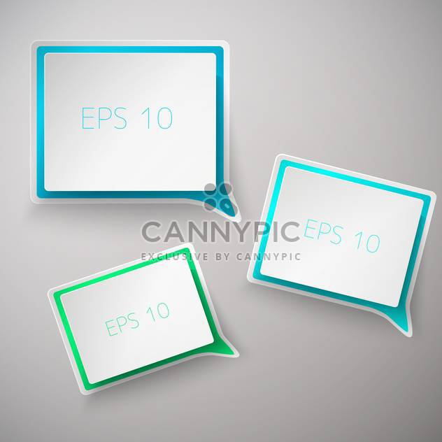 set of web square speech bubbles set - Free vector #129151