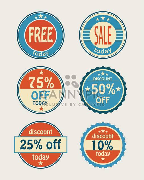 set of vector shopping sale labels - Free vector #129171