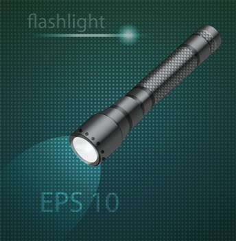 vector illustration of flashlight background - vector #129211 gratis