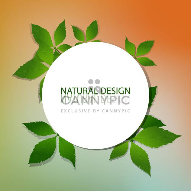 vector natural design frame - Free vector #129241