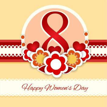 women's day vector greeting card - vector gratuit #129251