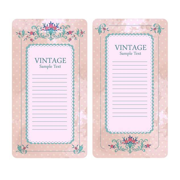 Vintage vector floral banners isolated on white background - Kostenloses vector #129311