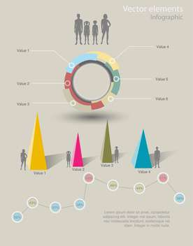 Infographic vector graphs and elements - Free vector #129331