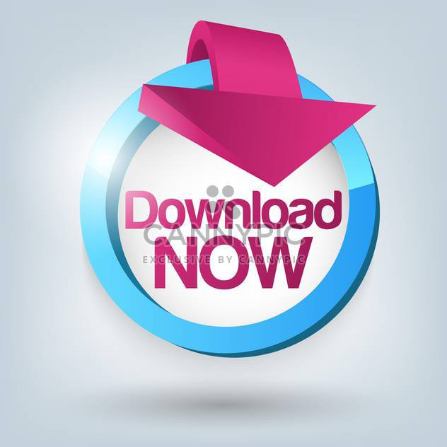 Vector illustration of Download now button - Free vector #129371