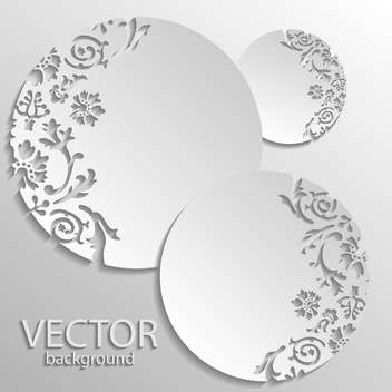 Vector gray floral round frames background - vector gratuit #129451