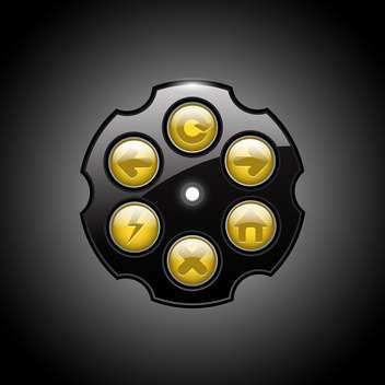 Vector illustration of revolver browser buttons on black background - Kostenloses vector #129561