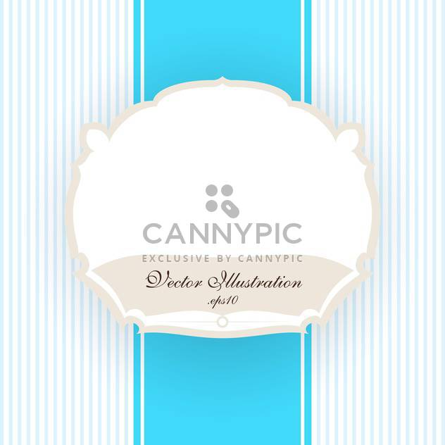 Vector vintage blue striped background with white frame - Free vector #129741