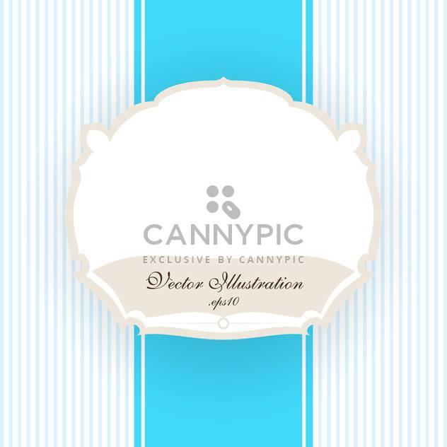 Vektor Jahrgang blau gestreiften Hintergrund mit weißen Rahmen - Kostenloses vector #129741