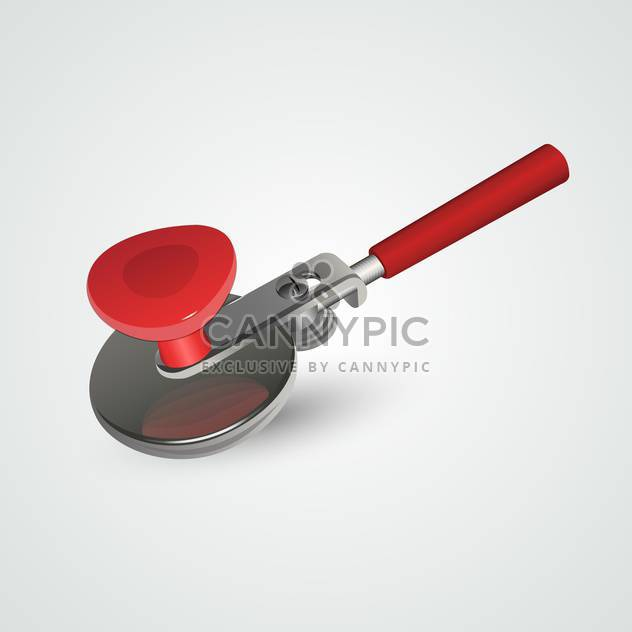Vector illustration of red closing machine for preservation on gray background - Free vector #129851