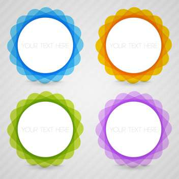 Vector set of colorful round frames on gray background - Free vector #129881