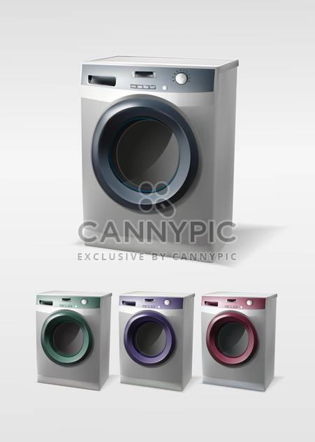 Vektor-Satz von Waschmaschinen, isoliert - Free vector #129991