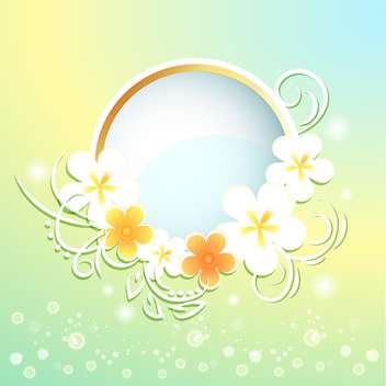 Spring frame with flowers on bright background - бесплатный vector #130051