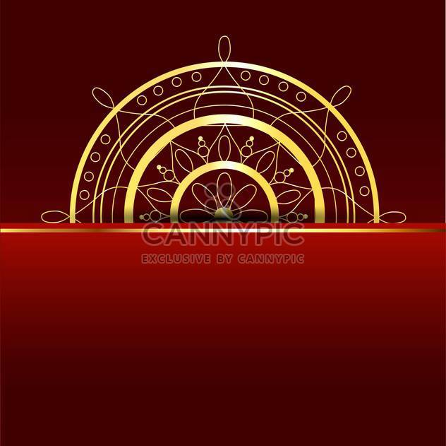 Vector red background with gold element - Free vector #130061