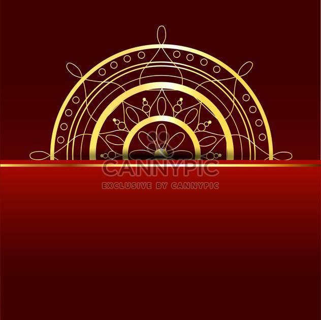Vektor-Roter Hintergrund mit gold-element - Kostenloses vector #130061