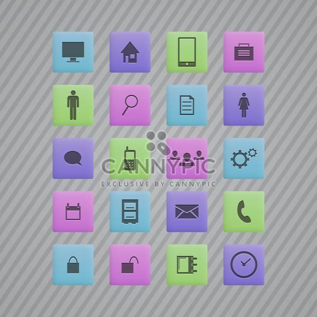 Vektor-Kommunikation bunten Icons auf grauen gestreiften Hintergrund - Kostenloses vector #130151