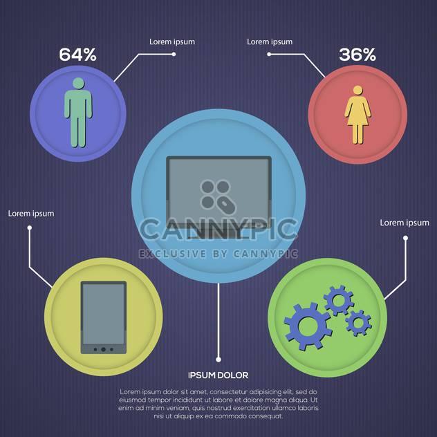 Soziales Netzwerk-Infografiken-set im retro-Style-design - Kostenloses vector #130161
