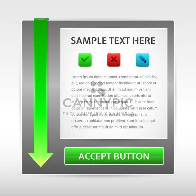 Vector banner with green arrow and place for text - Free vector #130181